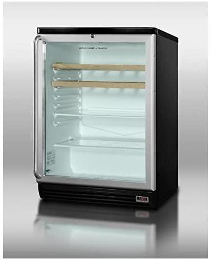 Summit SCR600BLPUBSHWO Beverage Refrigeration, Glass/Black