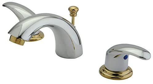 Kingston Brass KB6954LL Legacy Mini Widespread Lavatory Faucet with Pop-Up, Polished Chrome and Polished Brass