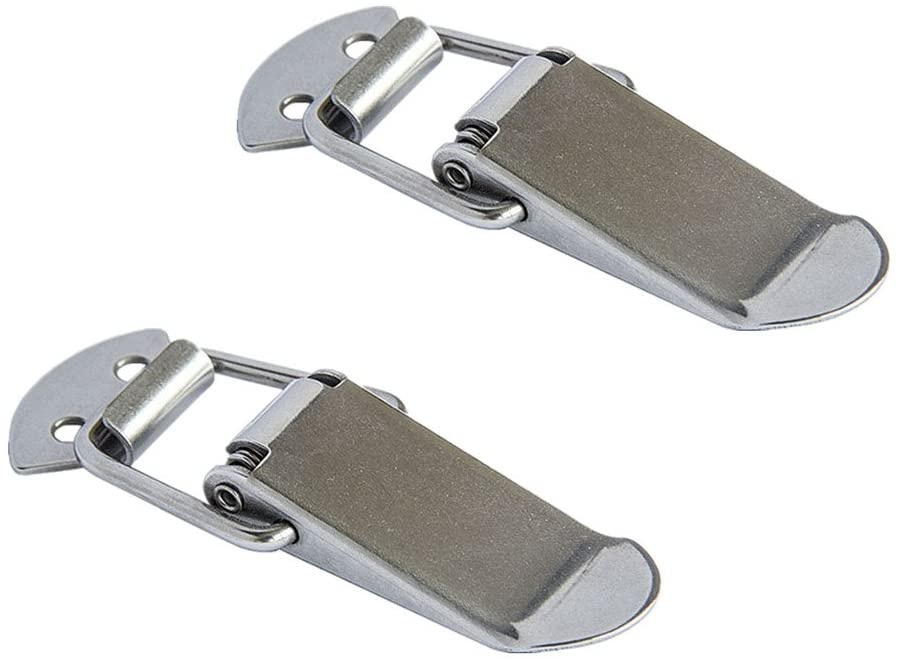 SamIdea(TM) 2-Pack Box Chest Case Spring Loaded Draw Toggle Latch Clamp,90x20mm,SUS201 Stainless Steel