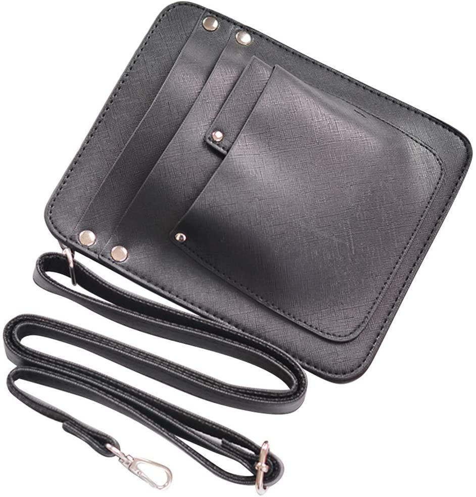 Lzttyee PU Leather Scissors Bag Pouch Holster Holder Florist Tool Bag with Adjustable Belt for Gardening Flower Shop (Black)