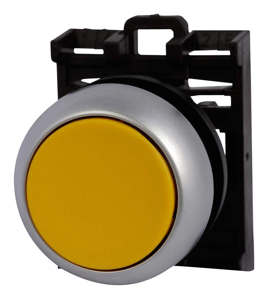 EATON MOELLER - M22-D-Y-K10 - Pushbutton Switch, SPST-NO, Round, Screw