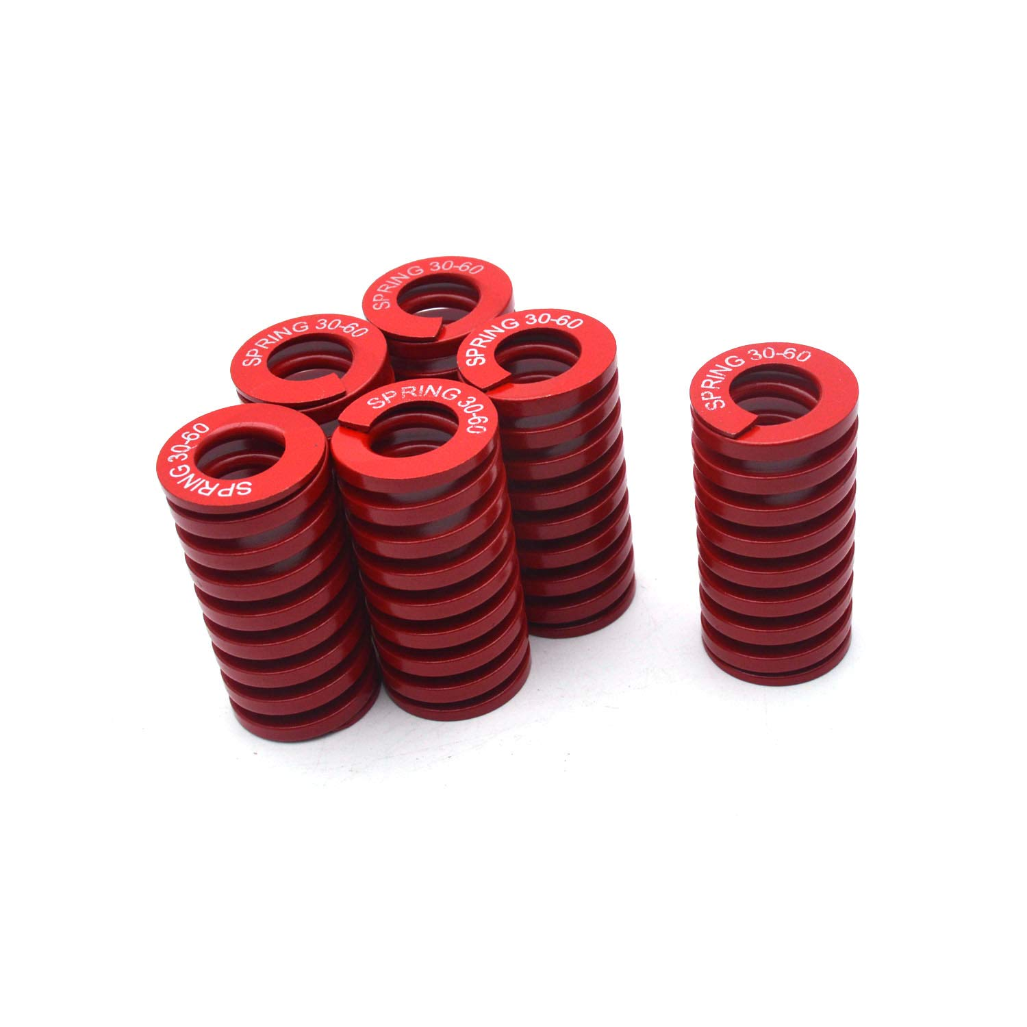 Antrader 6-Pack Red Medium Load Press Compression Mould Die Spring, 1.15-Inch-by-0.63-Inch-by-2.36-Inch