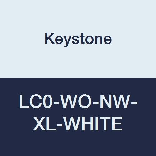Keystone LC0-WO-NW-XL-WHITE Polypropylene Lab Coat, No Pocket, Open Wrists, Snap Front, Single Collar, XL, White (Pack of 30)
