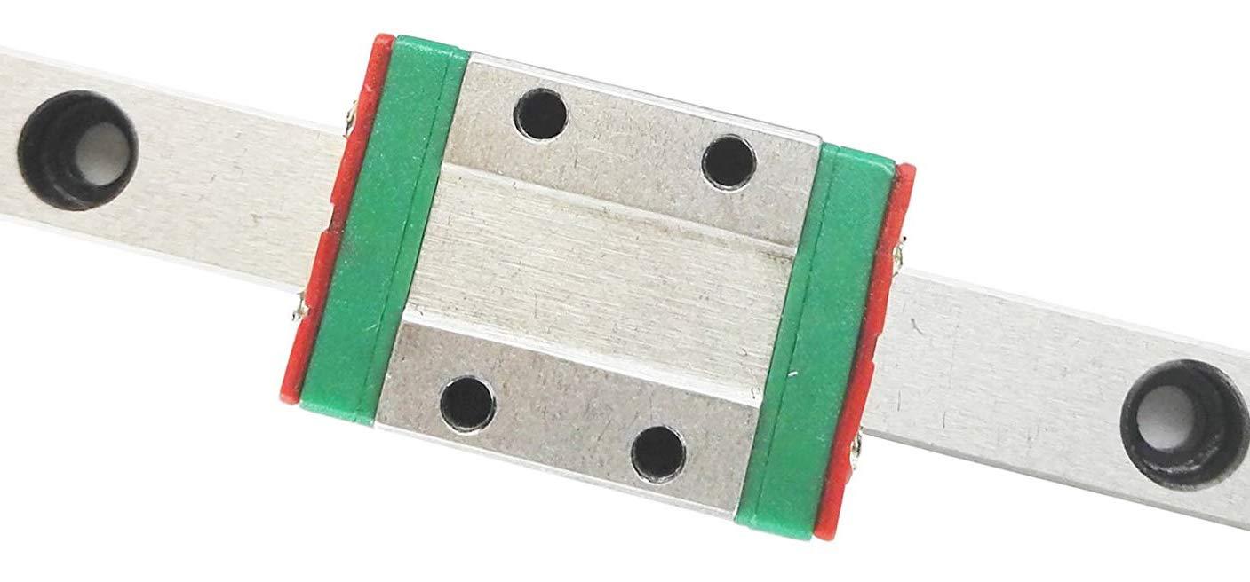 TEN-HIGH Linear Rail, 1pcs CNC Parts MR12 MGN12 Miniature Linear Guide Rail Way Slide 710mm+1pcs MGN12H Slider Miniature Linear Motion Guide Way