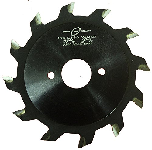 Popular Tools SS12022 Split Scoring Saw, 120 mm Diameter, 2x12 Teeth for use on Altendorf Machines