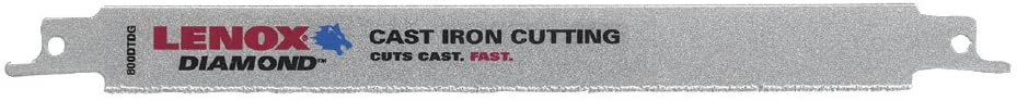 LENOX Reciprocating Saw Blade, Double-Tang, Diamond Grit, 9-Inch (1766338)
