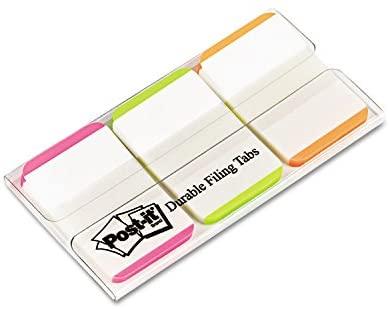 Post-it 686LPGO Dispenser File Tabs, 1-Inch, 66/PK, AST Bright Color Bars