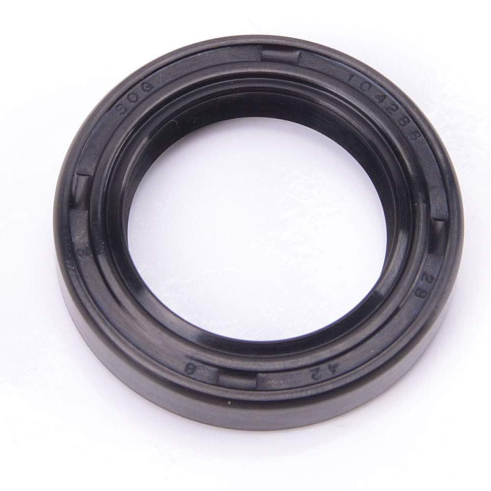 EAI Oil Seal 28mm X 42mm X 8mm TC Double Lip w/Spring. Metal Case w/Nitrile Rubber Coating