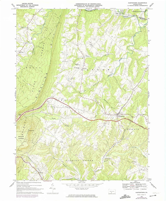 Map Print - Hustontown, Pennsylvania (1968), 1:24000 Scale - 24