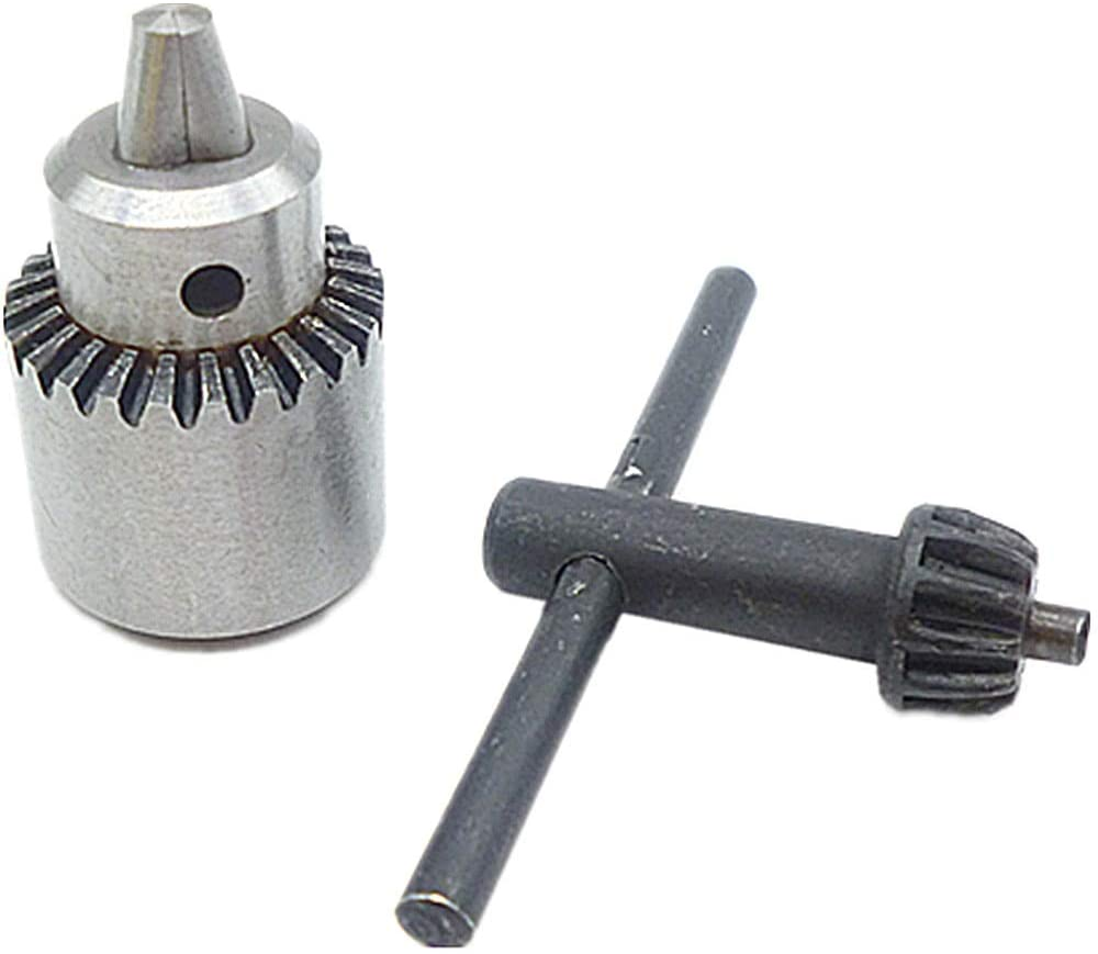 LELEXI : Watchmaker Lathe Mounting JT0 Taper Drill Chuck Capacity 0.3 To 4mm Mini Electric Drill Bit Clamp Inner Hole Diameter 6mm W/Key