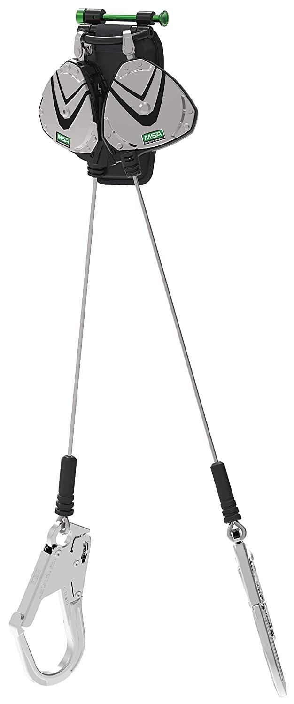 MSA 63162-00A V-Edge, Leading Edge Cable SRL, 8ft, (2.4m), Twin Leg, AL36CL Snaphook, ANSI