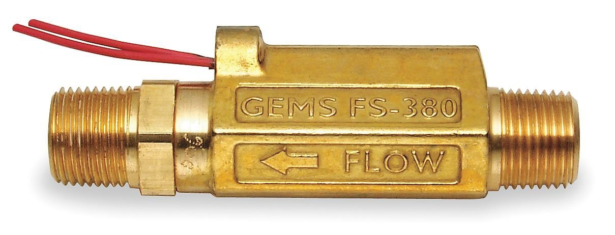 Gems Sensors Liquid Flow Switch Piston SPST 20VA