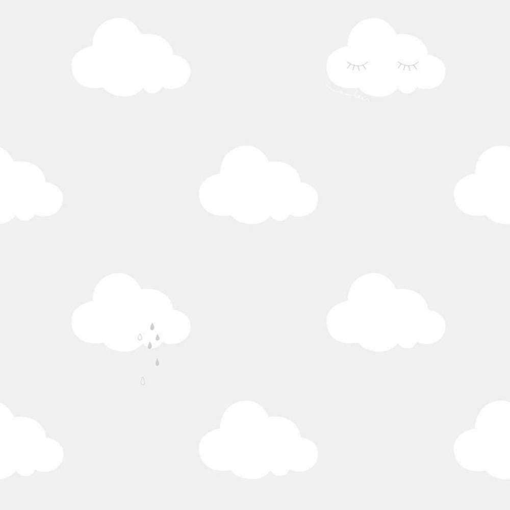 ND21116 - Little Explorers Clouds Grey Galerie Wallpaper
