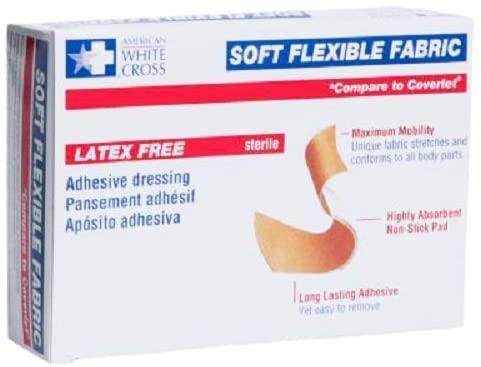 Flexible Fabric Bandages, Latex-Free Adhesive Bandage.75 x 3 Inch, 100 Pack