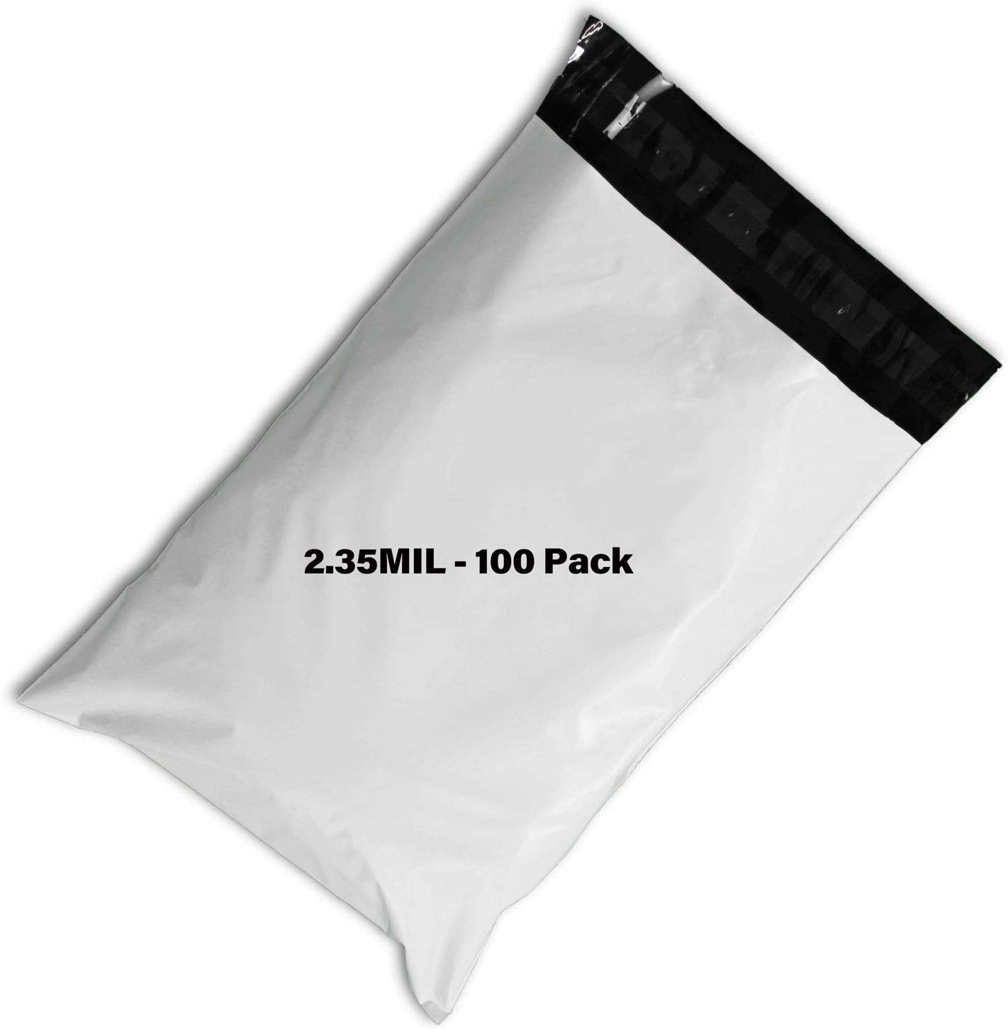 100 Pcs 9x12 Poly Bag 2.35MIL Mailers Envelopes Shipping Bags, Self Adhesive, Waterproof, and Tear-Proof Postage Poly-envelopes, Privacy Shielded