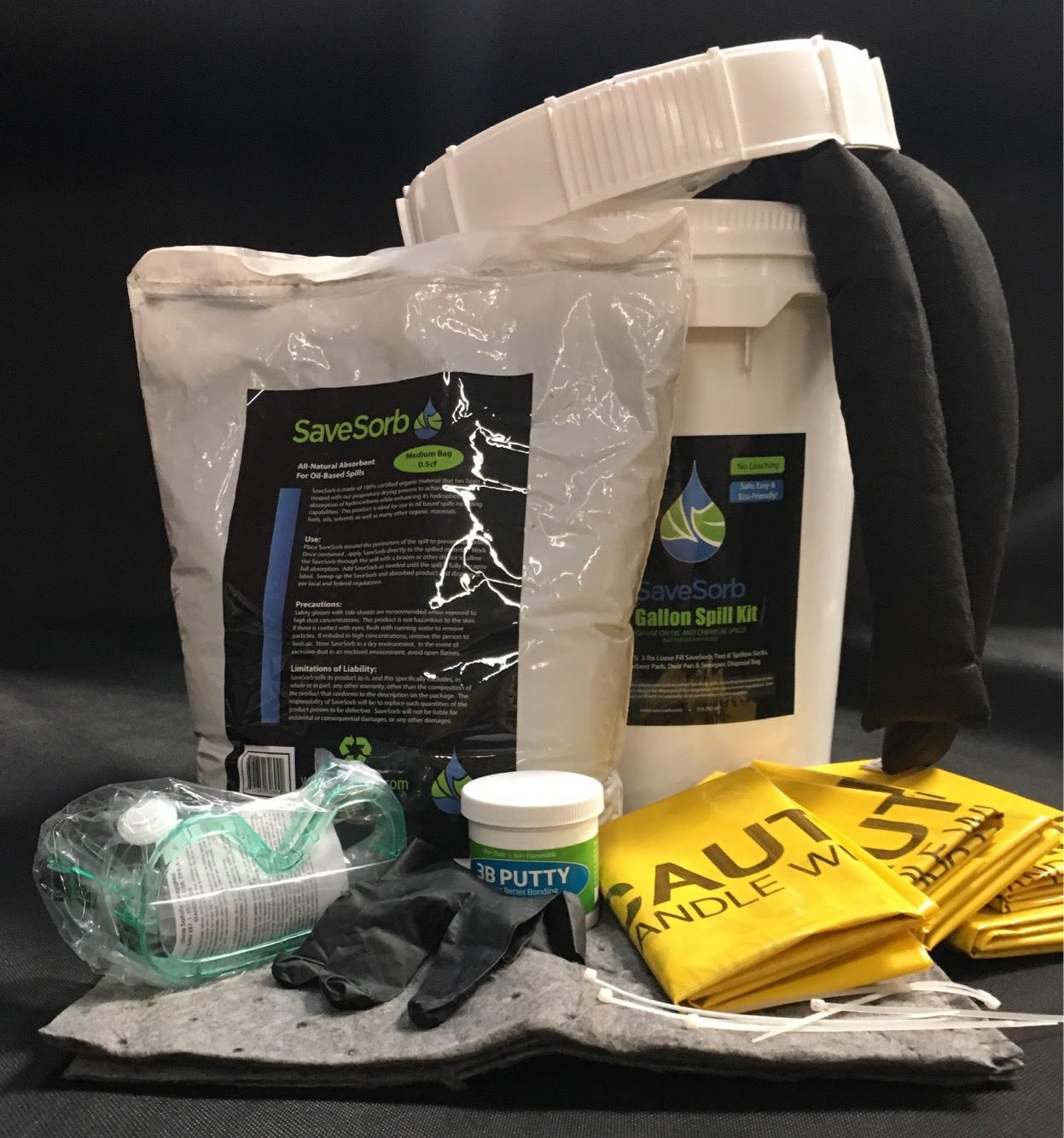 ABZORBITALL Total Spill Solution - 5 Gallon Spill Kit. 100% Biodegradable, Peat Moss Cleanup Solution for industrial and household waste, pet litter, hazardous materials, and other hydrocarbons