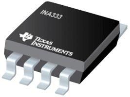 TEXAS INSTRUMENTS INA333AIDGKR IC, INSTRUMENT AMP, 150KHZ, 115DB MSOP-8 (10 pieces)