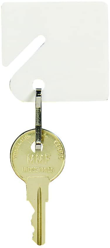 STEELMASTER Slotted Rack Key Tags, White, Clamshell Packaging, Pack of 20 (201KCT20)