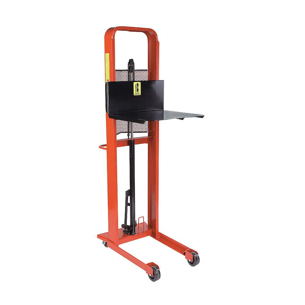 Wesco Industrial Products 260032 Standard Platform Hydraulic Stacker, 1000-lb. Capacity, 60 Lift Height, 25.5 x 40 x 75