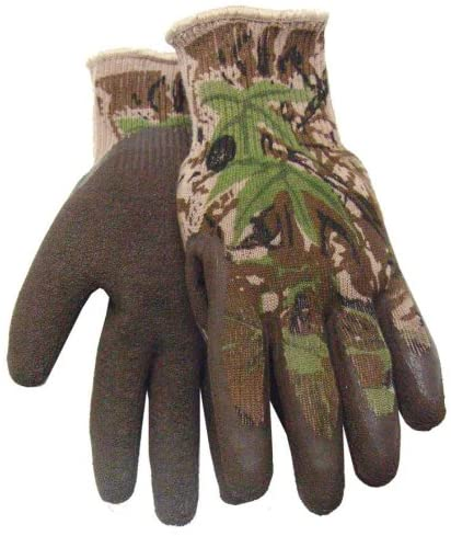 Midwest Gloves & Gear 397P02-M-AZ-6 All Purpose Camouflage Gripper Outdoor Hunting Glove, Medium, Ap Camo