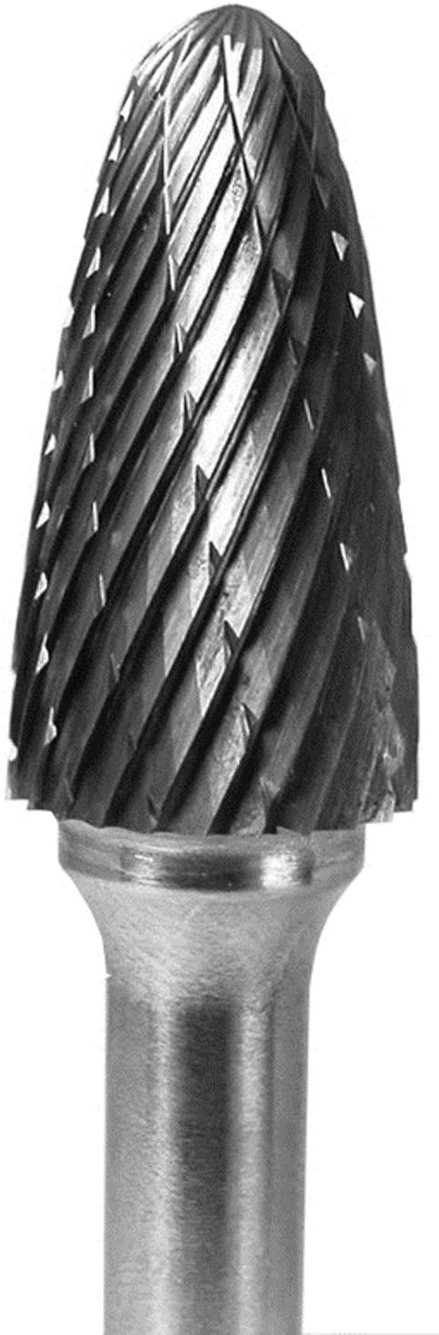 Carbide Bur Grobet Made In U.S.A. Tree Radius 1/2X1X1/4 Double Cut