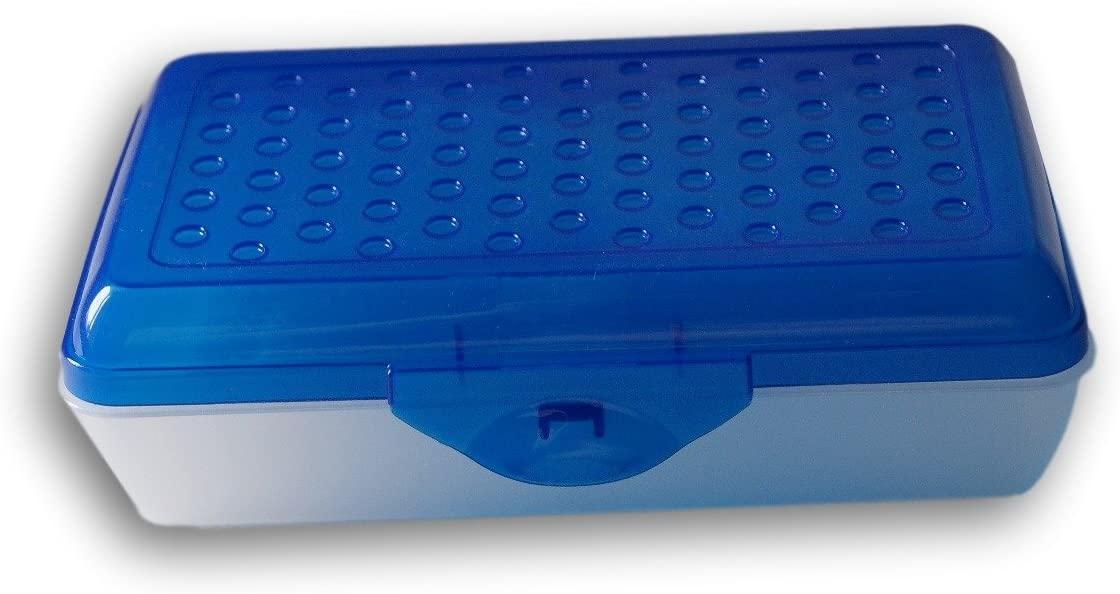 Case-Mate Casemate Blue Transparent Dots Pencil Case Box