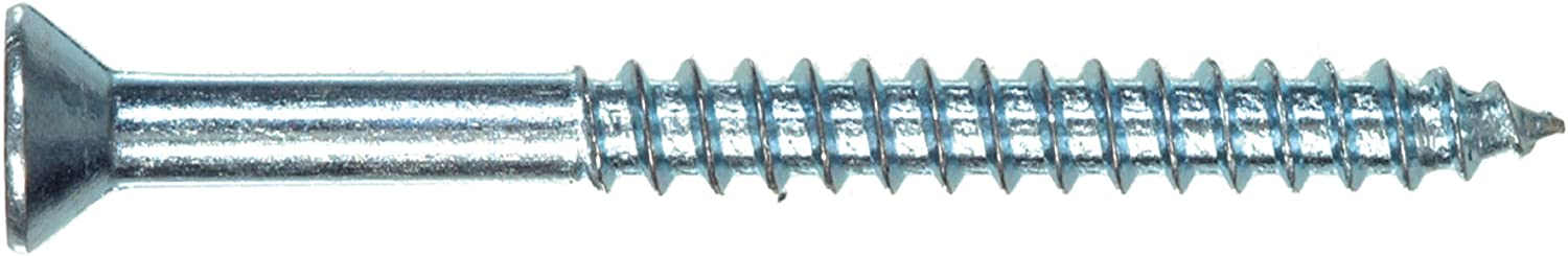 The Hillman Group 40012 6-Inch x 1/2-Inch Flat Head Phillips Wood Screw, 100-Pack