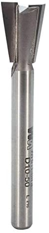 Whiteside Router Bits D10-50 Dovetail Bit with 1/2-Inch Large Diameter and 5/8-Inch Cutting Length