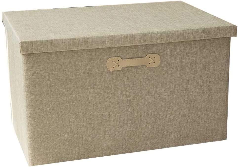 LJ Stool Storage Boxs Oxford Cloth Foldable Household Wardrobe Dormitory Office Clothing Debris Finishing Box,32 x 24 x 18cm