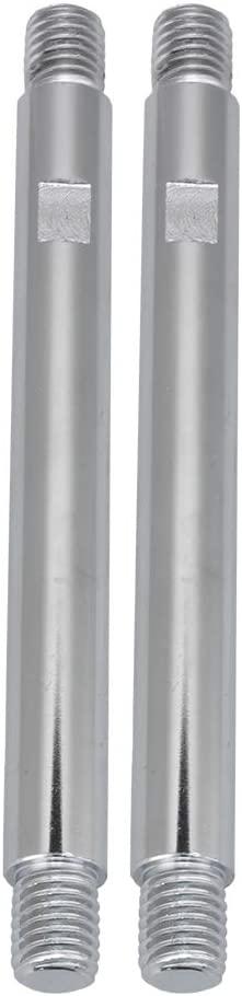 2pcs Silver Threaded Handwheel Handle Shaft Rods for Handwheel Machine M12x150