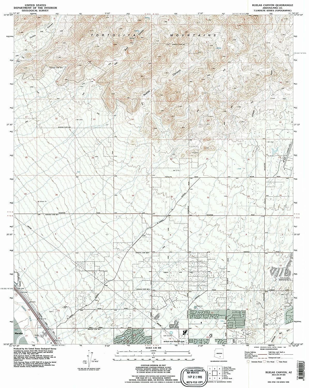 Map Print - Ruelas Canyon, Arizona (1992), 1:24000 Scale - 24