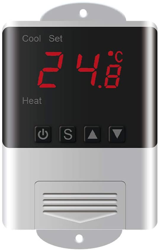 Ajcoflt DTC1200 Intellligent Temperature Controller LED Digital Thermostat Thermometer Temperature Sensor Cooling Heating