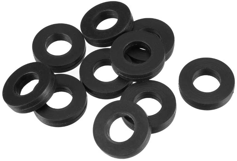 uxcell Rubber Flat Washers 18mm OD 9mm ID 4mm Thickness for Faucet Pipe Water Hose, Pack of 10