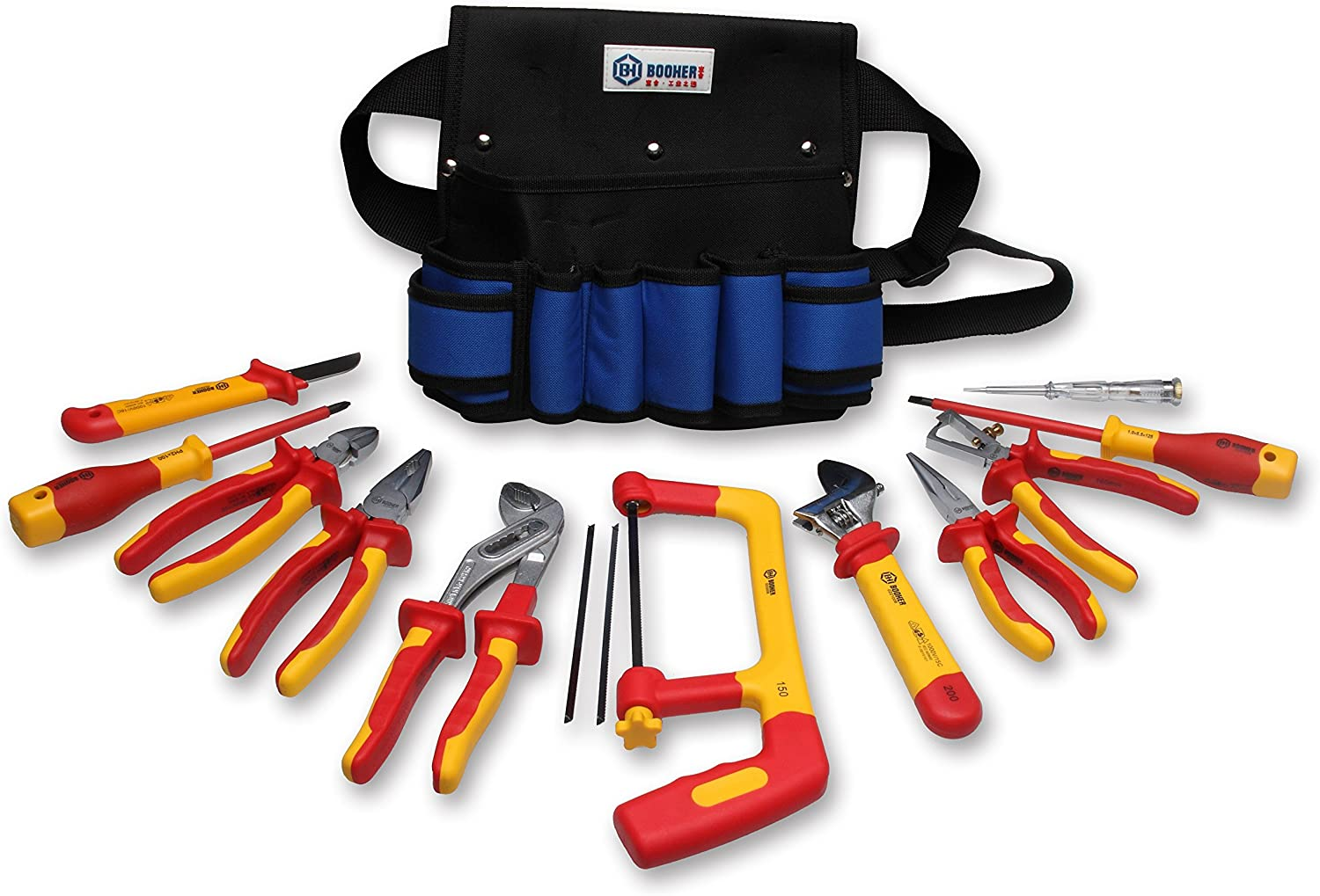 BOOHER 0200104 13-Piece 1000V Insulated Electricians Tools Set