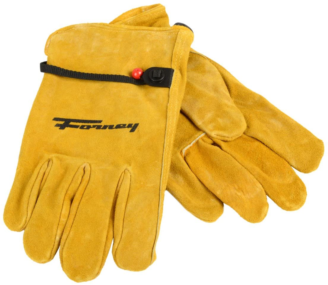 Forney 53134 Cowhide Leather Driver Suede Men's Gloves, Large