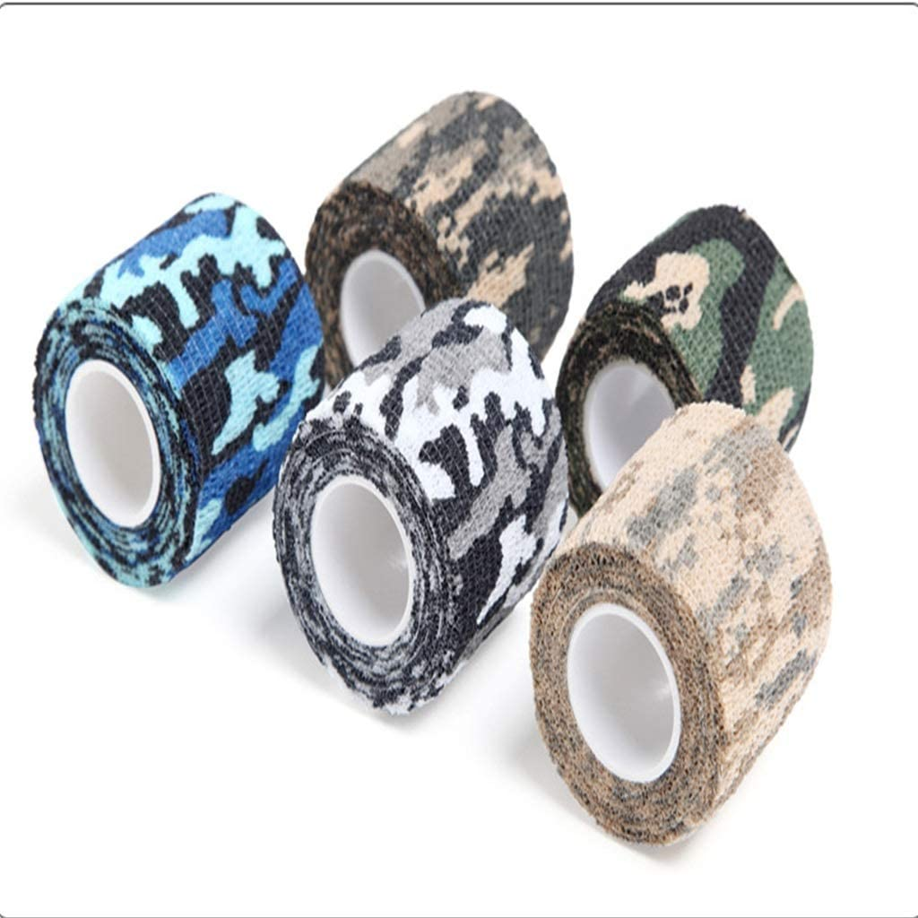5 Roll Assorted Colored Patterned Arts and Crafts Duct Tape - Incredible Support for Athletic Sports and Recovery - Free Kinesiology Taping Guide!