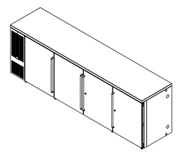 Perlick Corporation BBS108 Refrigerated Back Bar Cabinet