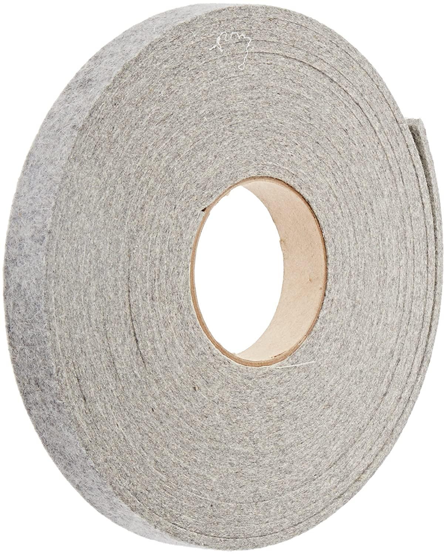 Grade F3 Pressed Wool Felt Strip, Gray, Meets SAE J314, 1/8