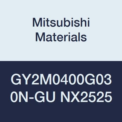 Mitsubishi Materials GY2M0400G030N-GU NX2525 Cermet GY Grooving Insert for Grooving/Cutting Off and Gummy Steel 2 Teeth, G Seat, 0.157