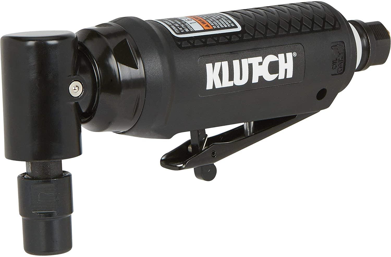 Klutch 1/4in. 90° Air Mini Die Grinder - 20,000 RPM, Angle Head, 4 CFM