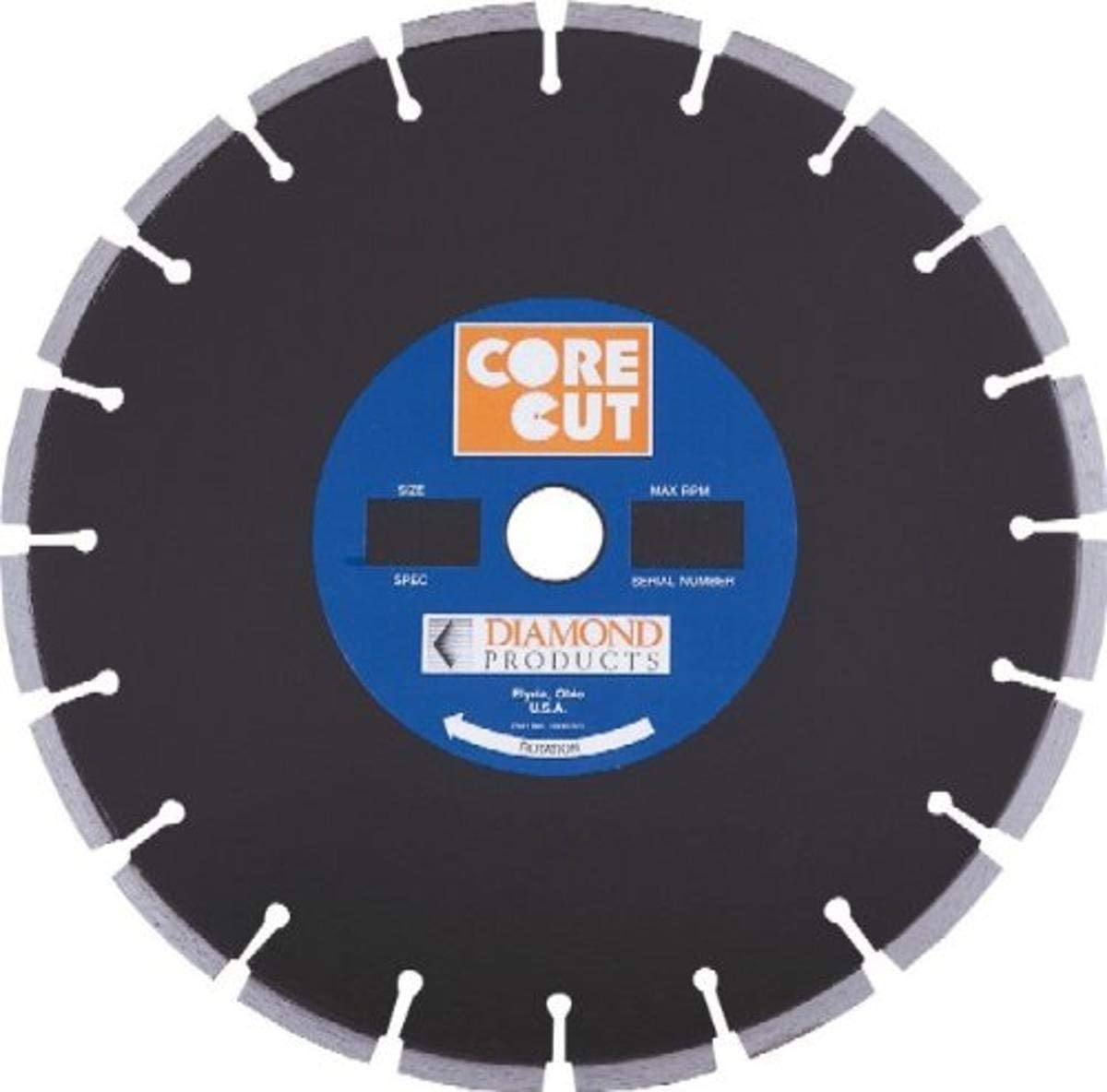 Diamond Products Core Cut 40803 24-Inch by 0.140 by 1-Inch Premium Black Dry or Wet Masonry Blade