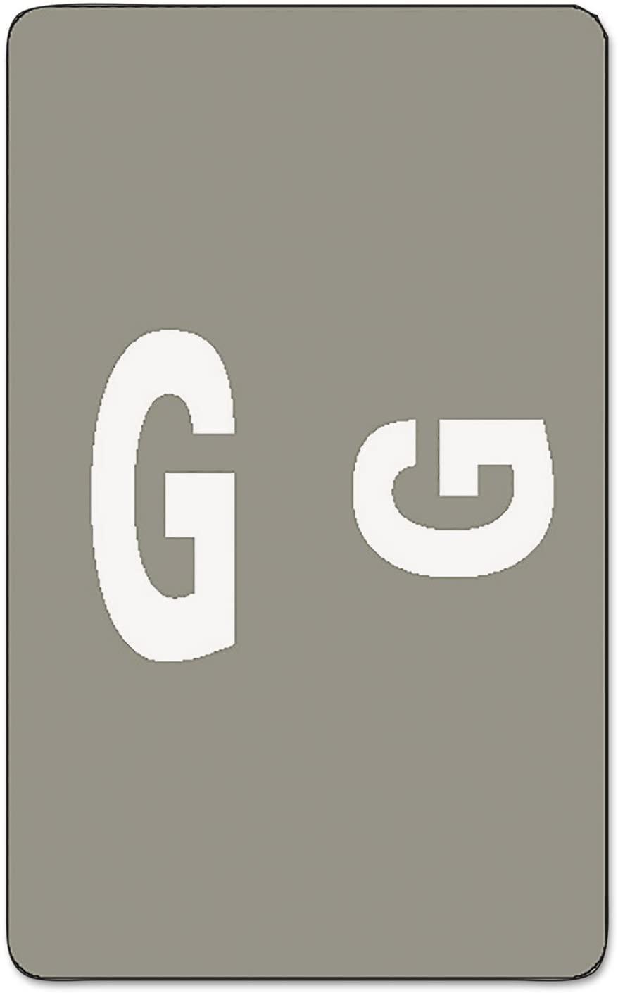 Smead 67177 Alpha-Z Color-Coded Labels, Letter G, Gray, 100 Labels/Pack
