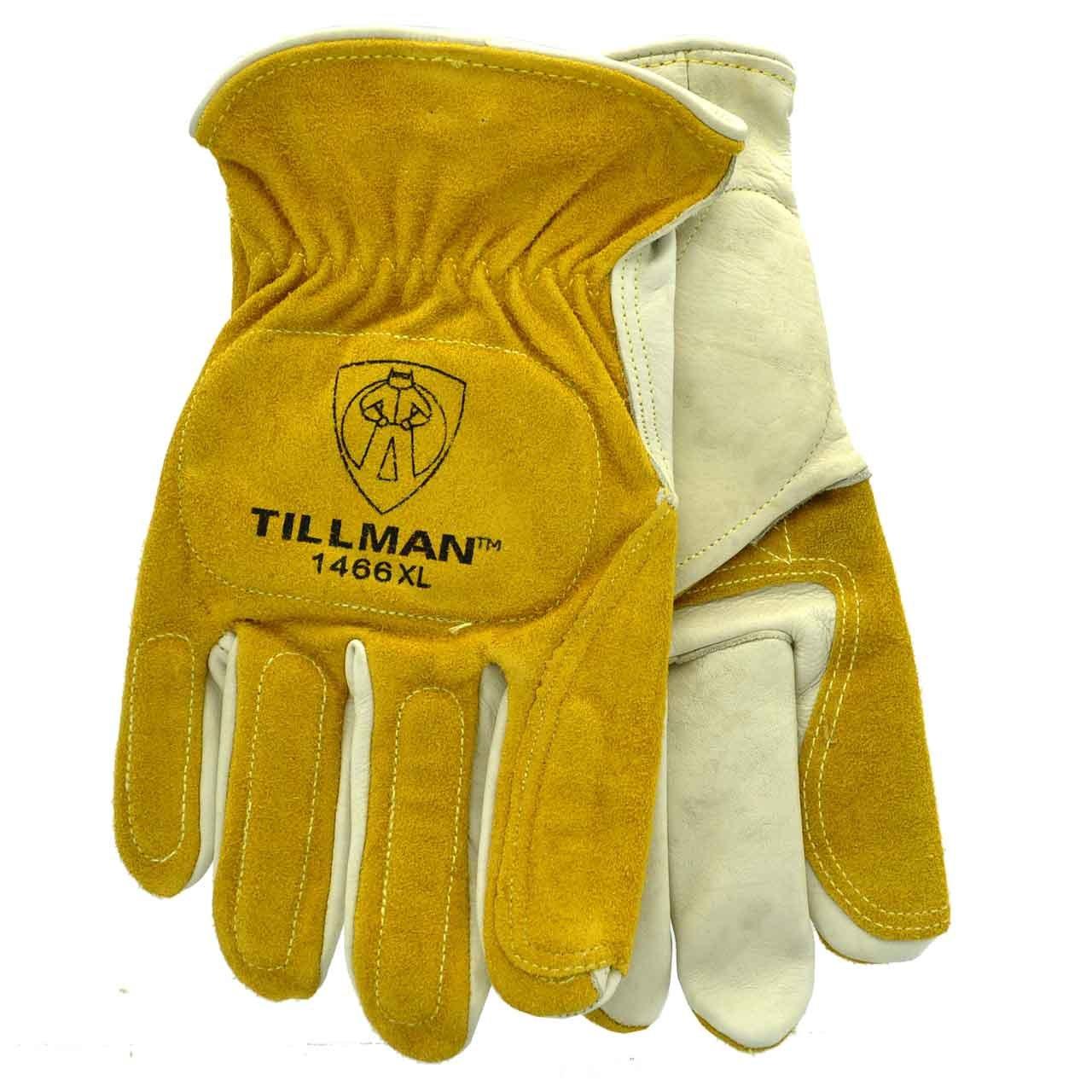 Tillman 1466 Top Grain Cowhide/Split Double Palm Drivers Gloves, X-Large