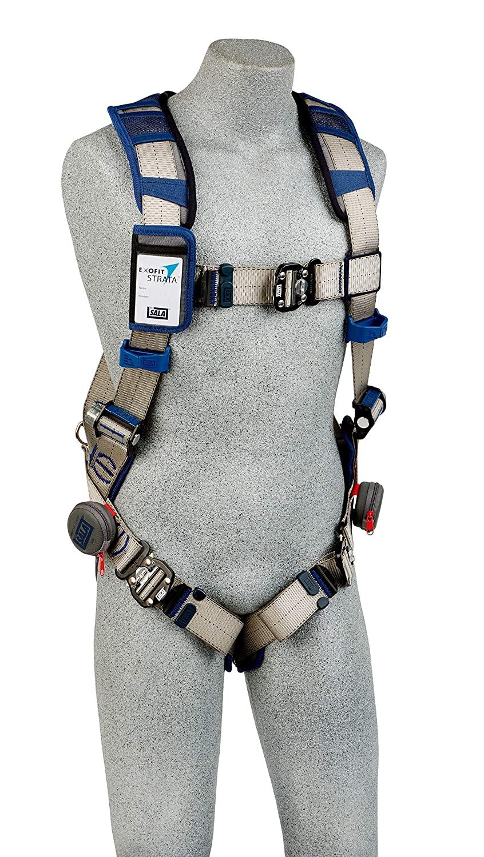 3M DBI-SALA ExoFit STRATA Vest-Style Harness 1112496, Grey, Blue, Medium, 1 EA