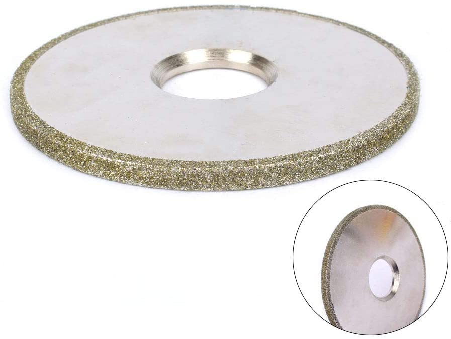 4 Inch 60 Grit Electroplated Flat Type Diamond Coated Grinding Wheel Carbide Grinder Abrasive Tool For Metal Jewelry Polishing Tool