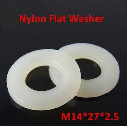 Ochoos 50pcs M14272.5 Nylon Flat Washer DIN125 Plastic Ring Gasket