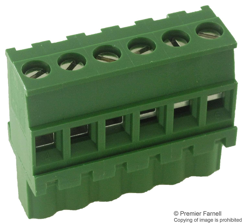 MULTICOMP MC210-50806 TERMINAL BLOCK PLUGGABLE, 6 POSITION, 24-12AWG (5 pieces)