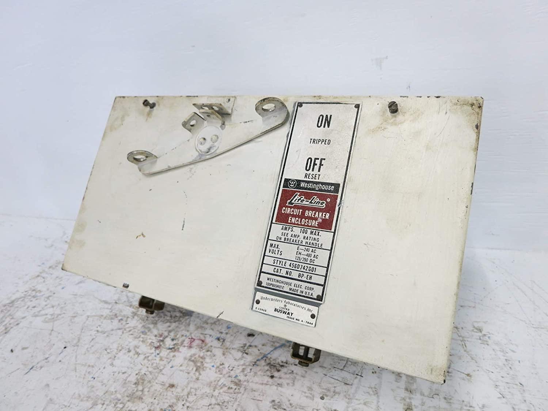 Westinghouse 100A BP-EH Breaker Bus Plug 240/480V 456D742G01 BPEH Busway 100 Amp