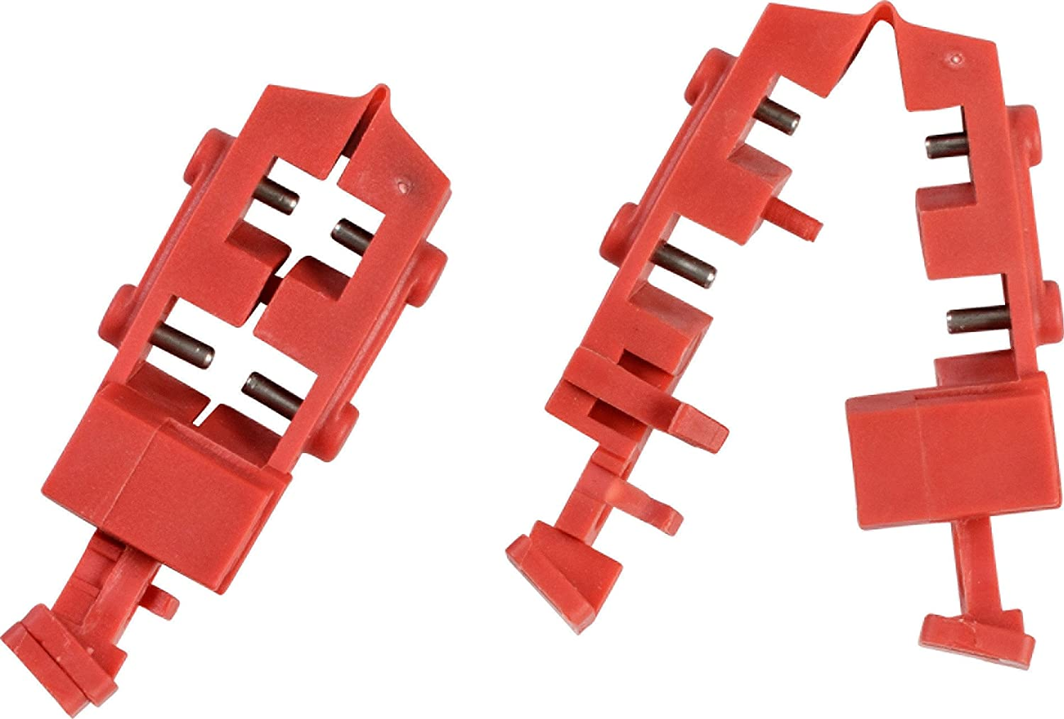 Brady Taglock Circuit Breaker Lockout Devices - 120/277 Volt Snap-On Multi-Pole Breaker Lockout Device, No Lock Needed - Red - 148694 (Pack of 50)