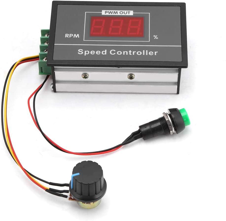 MAGT Speed Controller, Speed Adjustable DC 6-60V 12V 24V 36V 48V 30A PWM DC Motor Speed Controller Start Stop Switch